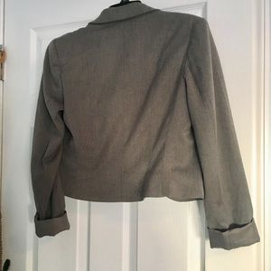 H&M Jackets & Coats - Gray Blazer - Vintage H&M with Polka Dot lining